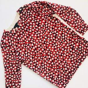 J.Crew Tippi Sweater in Printed Hearts